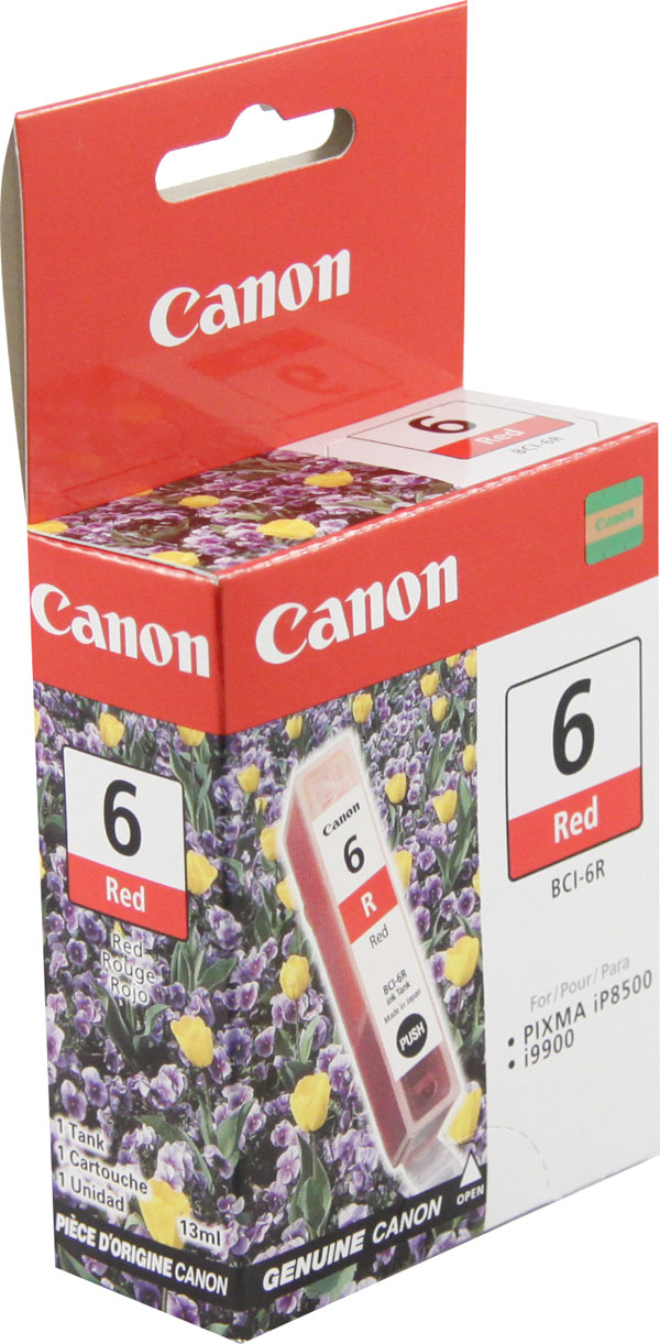 Genuine OEM Canon 8891A003 (BCI-6R) Red Inkjet Cartridge