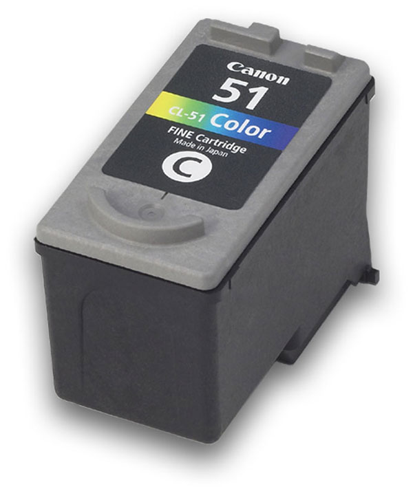 Genuine OEM Canon 0618B002 (CL-51) High Yield Tri-Color Inkjet Cartridge