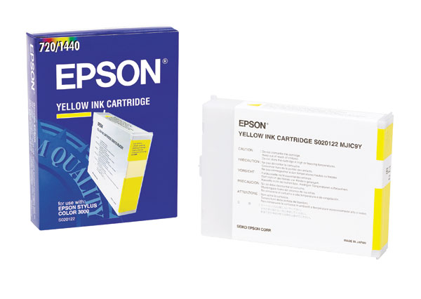 Genuine OEM Epson S020122 Yellow Inkjet Cartridge