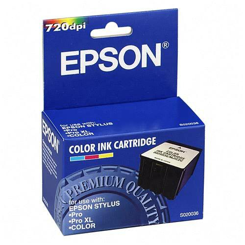 Genuine OEM Epson S020036 Tri-Color Inkjet Cartridge