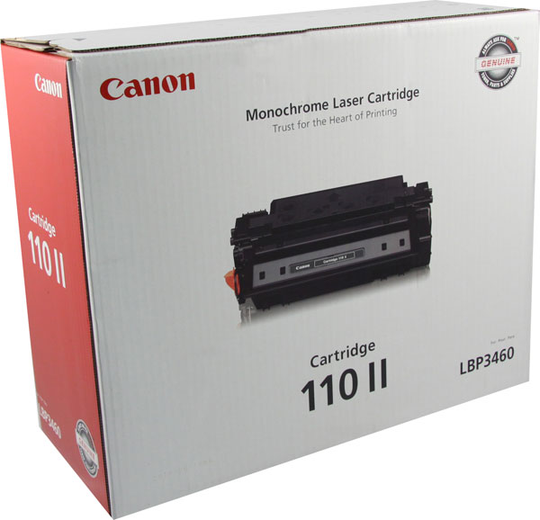 Genuine OEM Canon 0986B004AA (CRG-110) High Yield Black Toner Printer Cartridge (12000 page yield)