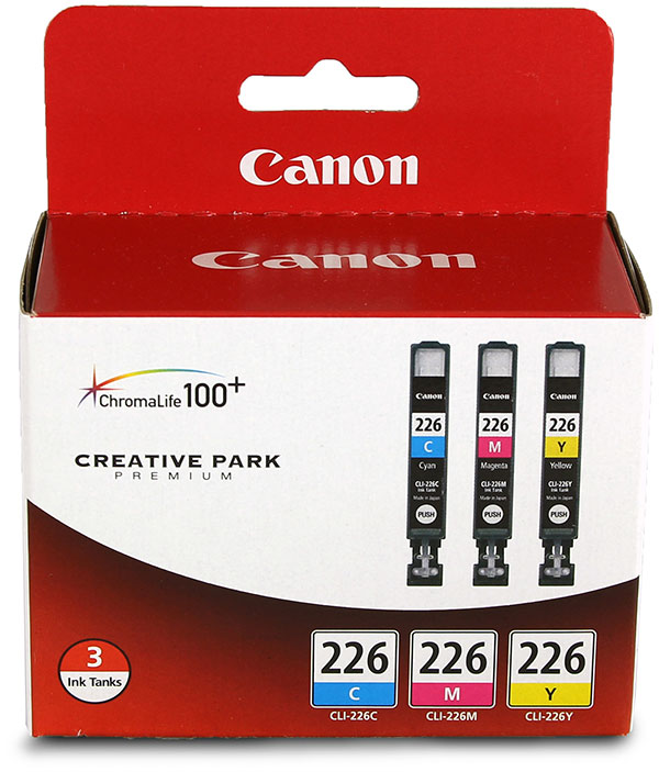 Genuine OEM Canon 4547B005 CLI-226 Black Ink Cartridges (Combo Pack) (Includes OEM# 4547B001, 4548B001, 4549B001) ()