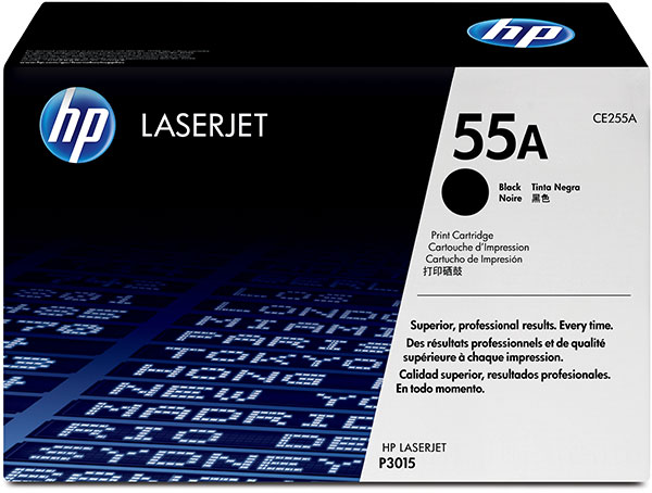 Genuine OEM HP CE255AG HP 55A Government Black Toner Cartridge (TAA Compliant version of CE255A) (6,000 page yield)