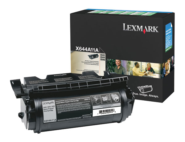 Genuine OEM Lexmark X644A11A Black Return Program Print Cartridge (10000 page yield)