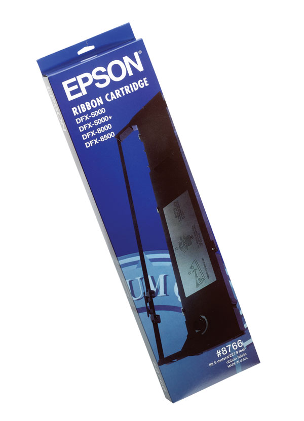 Genuine OEM Epson 8766 Black Printer Ribbon (6 pk) ()