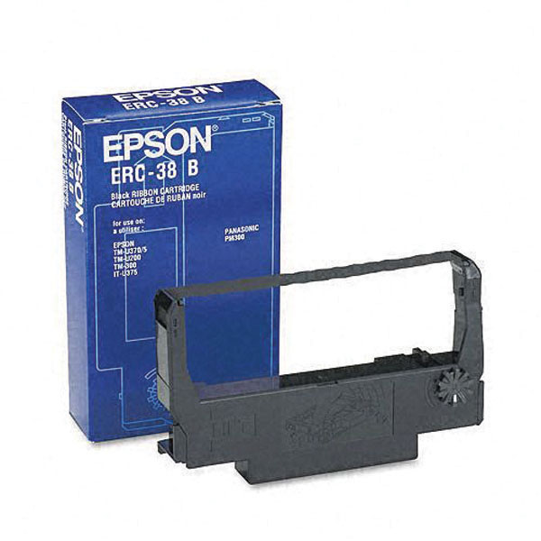 Genuine OEM Epson ERC-38B Black Fabric Ribbon