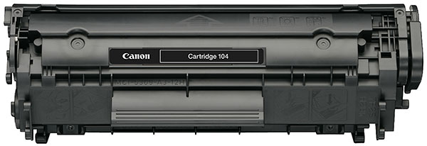 Genuine OEM Canon 0263B001A (FX9, FX10, Canon 104) Black Toner Printer Cartridge